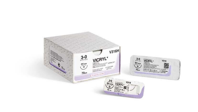 Купить  Рассасывающийся полифиламентный шовный материал Vicryl (5/0) в Минске, Беларуси. Самовывоз, доставку курьером или почтовым отправлением