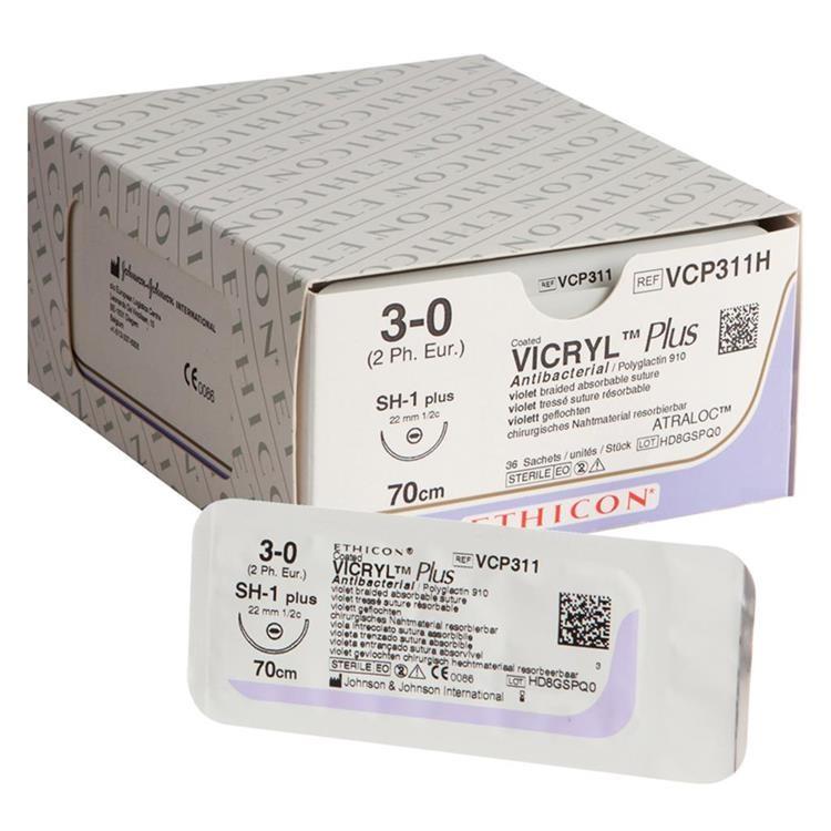 Купить Рассасывающийся полифиламентный шовный материал Vicryl Plus (3/0) в Минске, самовывоз, курьерская доставка, отправка почтой по Беларуси